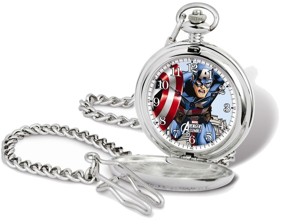 Marvel Captain America Pocket Watch w/Chain