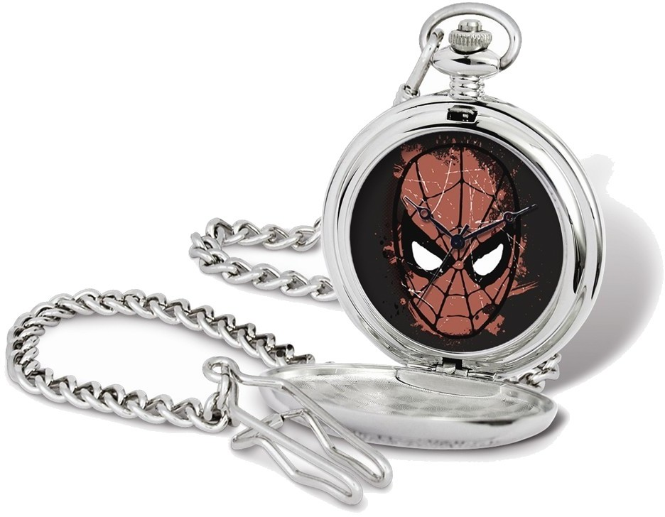 Marvel Spiderman Face Pocket Watch w/Chain