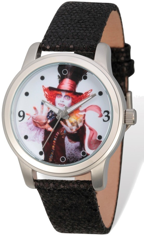 Disney Adult Size Mad Hatter Black Band Watch