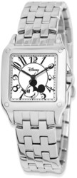 Disney Adult Size Alloy/Stainless Steel Square Mickey Mouse Watch