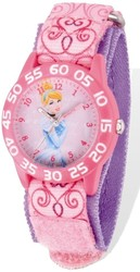 Disney Cinderella Acrylic Case Pink Velcro Time Teacher Watch