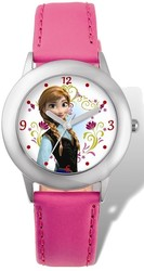 Disney Frozen Anna Pink Leather Tween Watch