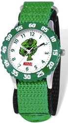 Marvel Hulk Kids Green Velcro Band Time Teacher Watch