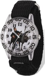 Disney Frozen Sven/Kristoff Acrylic Black Velcro Time Teacher Watch