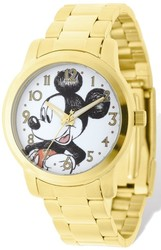 Disney Adult Size Mickey Mouse Gold-tone Watch
