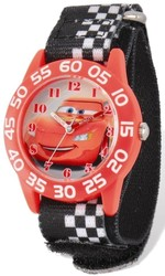 Disney Lightning McQueen Acrylic Case Velcro Time Teacher Watch