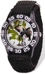 Disney Frozen Olaf/Sven Acrylic Black Nylon Time Teacher Watch
