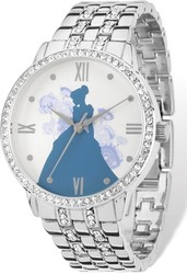 Ladies Disney Silver-tone Cinderella Silhouette Watch