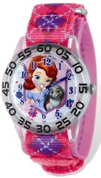 Disney Princess Sophia/Bunny Acrylic Pink Time Teacher Watch
