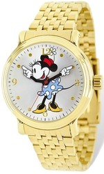 Disney Adult Size Gold-tone Minnie Blue Dress Watch