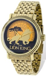 Disney Adult Size Antiqued Gold-tone Lion King Watch