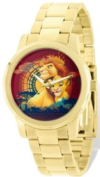 Disney Adult Size Gold-tone Lion King Mufasa/Simba Watch