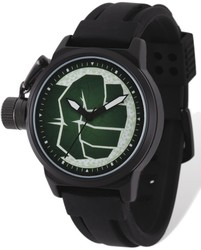 Marvel Adult Size Hulk Black-plated Left Hand Watch