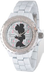Disney Adult Size Minnie Mouse White Band Watch