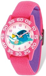 Disney Kids Nemo & Dory Pink Stretch Time Teacher Watch