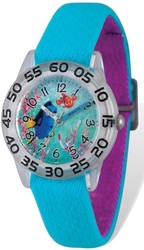 Disney Kids Dory & Nemo Blue Stretch Time Teacher Watch