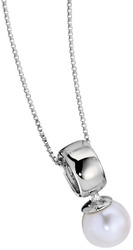 ELLE Jewelry - PRETTY IN Cultured PEARLS Sterling Silver 16 in. Cultured Pearl Necklace