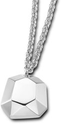 ELLE Jewelry - FACETS Sterling Silver 16 in. + 2 in. Necklace (N0367)