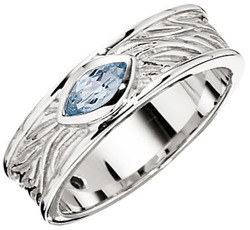 ELLE Jewelry - AMBROSIA Sterling Silver Sky Blue Topaz Ring