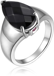 ELLE Jewelry - AUTUMN SUNRISE Sterling Silver Black Agate Ring