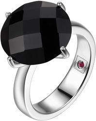 ELLE Jewelry - COCKTAIL HOUR Sterling Silver Black Agate Ring (R0174)