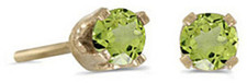 14k Yellow Gold Round Peridot Stud Earrings (CM-E1420X-08)