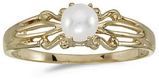 10k Yellow Gold Pearl Ring (CM-RM1058-06)