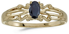 10k Yellow Gold Oval Sapphire Ring (CM-RM1058-09)
