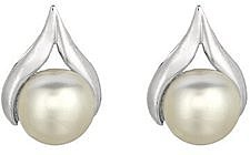Silver Rhodium Plated Shiny Open Centered Tear Drop 7.0mm (2/7