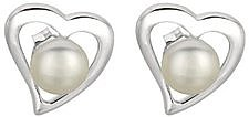 Silver Rhodium Plated Shiny Open Centered Heart 6.5mm (1/4