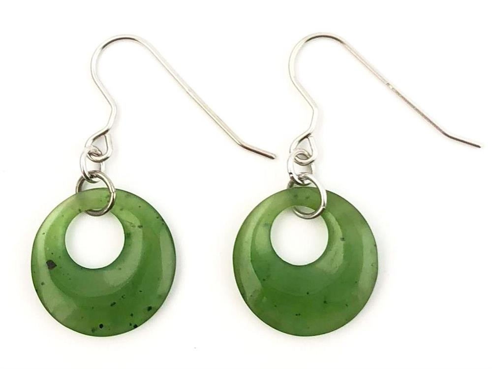 Jade Dangle Circle Earrings (HNW-0517-5)