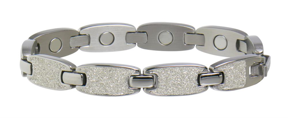 Sabona - Resort Collection - Caribbean Sunshine White - Ladies Magnetic Bracelet