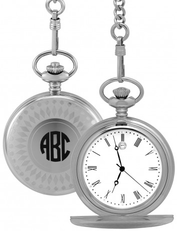 Alison & Ivy - Mens Stainless Steel Pocket Watch 47mm - Customizable Jewelry Collection