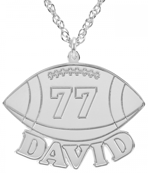 Alison & Ivy - Football Necklace 17x23mm - Customizable Jewelry Collection