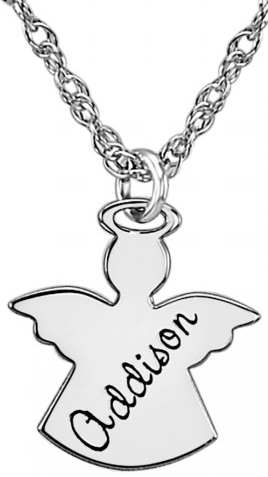 Alison & Ivy - Child Angel Necklace 14x13mm - Customizable Jewelry Collection