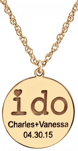 Alison & Ivy - Couples Round I DO Necklace 18mm - Customizable Jewelry Collection