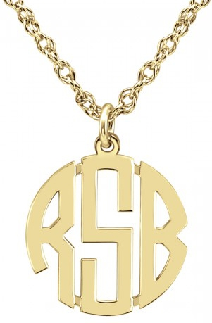Alison & Ivy - Mini Block Monogram Necklace (2 or 3 Initials) - Customizable Jewelry Collection
