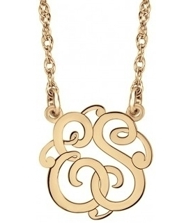Alison & Ivy - Mini Classic Monogram Necklace 10mm - Customizable Jewelry Collection