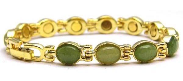 Simulated African Jade - Magnetic Therapy Bracelet (AJ-SP)