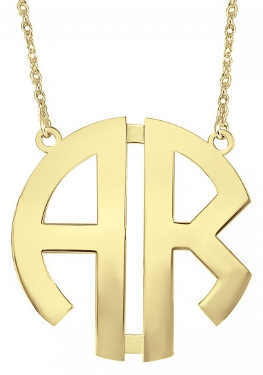 Alison & Ivy - Block 2 Initial Monogram Necklace - Customizable Jewelry Collection