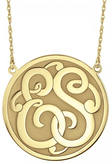 Alison & Ivy - Classic Recessed 2 Initial Monogram Necklace - Customizable Jewelry Collection