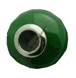 Jade Bead with Stainless Steel (Grade A or B) (14x7.5mm)