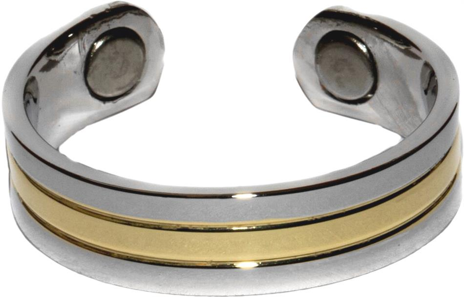 Golden River - Gold Plated Magnetic Therapy Ring (RC-218) - DISCONTINUED