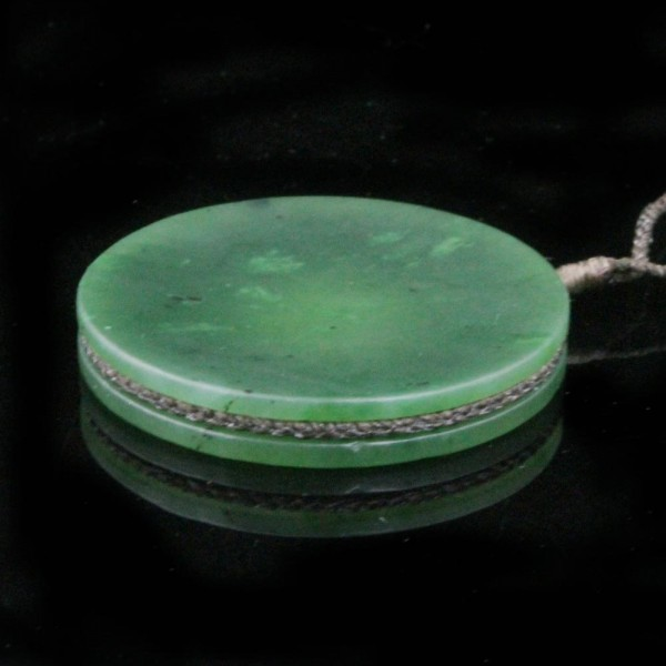 Round jade pendant on adjustable cord round solid jade disc pendant on adjustable cord picture 11 mozeypictures Gallery