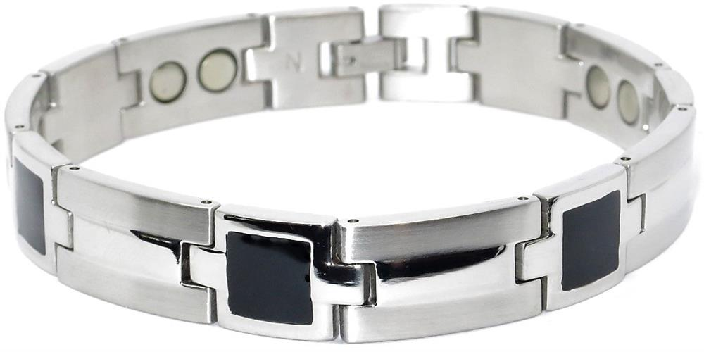 Constellation (two 5,000 gauss) - Stainless Steel Magnetic Therapy Bracelet (SS2595002)