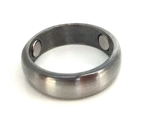 Antiqued Silvertone Solid Copper Band Magnetic Therapy Ring (CR24)