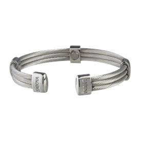 Sabona Trio Cable Stainless Magnetic - Mens Executive Bracelet