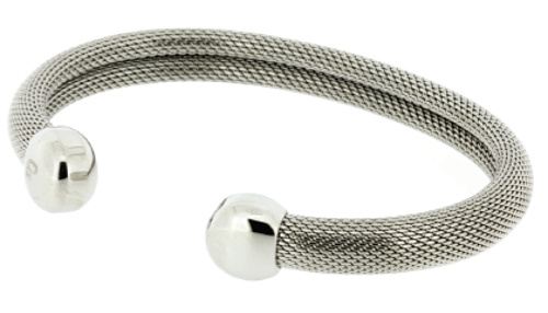 Q Ray - Milano Series - Stainless Steel Mesh Cuff Bracelet (Q281)