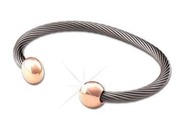 Q Ray - Deluxe Series - Rose Gold Combo Deluxe Cuff Bracelet (Q571)