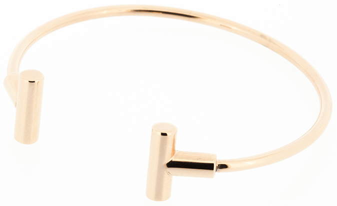 Q Ray - Tio Series - Rose Gold Plated Cuff Bracelet (Q821)